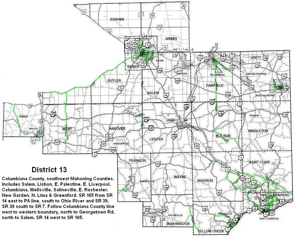 Area 54 District Boundaries