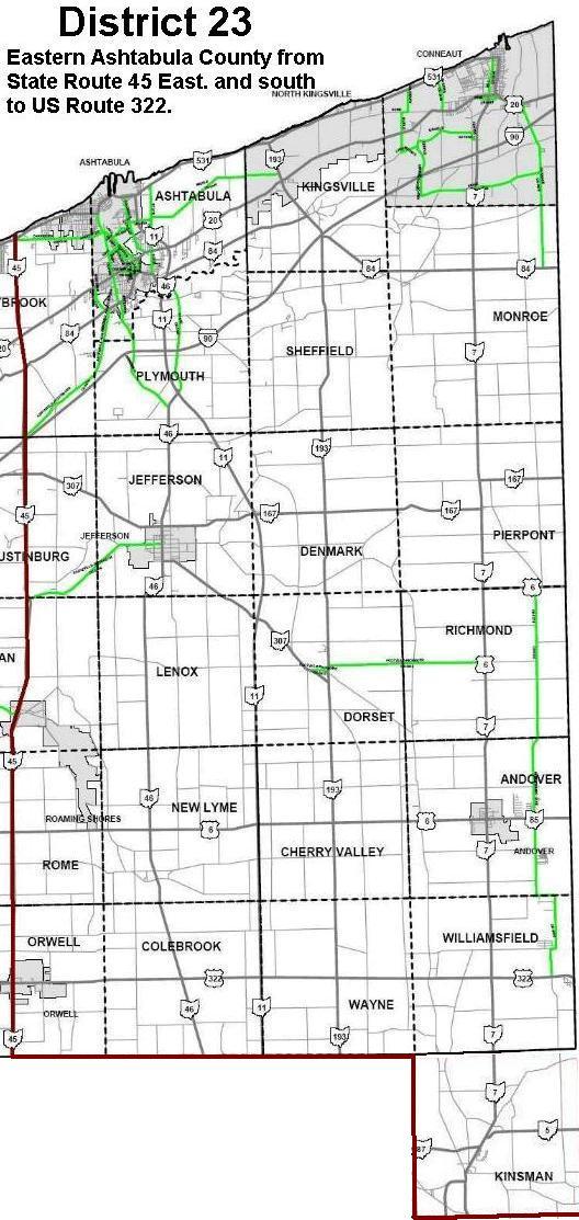 MultiDistrict - Us route 45 map